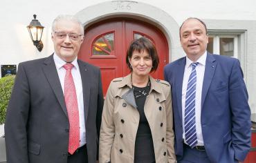Roland Kuster mit Doris Leuthard und Markus Dieth
