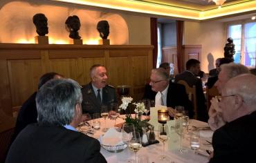 KKdt André Blattmann, CdA, auf Einladung Club1 im Wettinger Gasthof Sternen