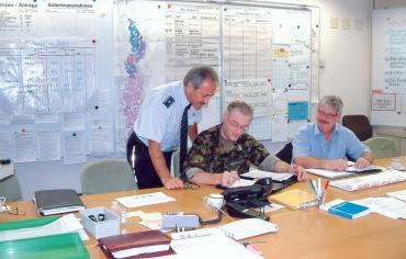Kantonaler Führungsstab – Einsatz Hochwasser 2005