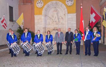 in Rom mit der Tamburenvereinigung Wettingen und Umgebung