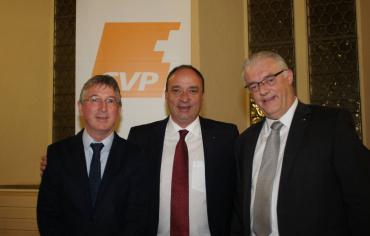 CVP Fraktionschef Peter Voser, Markus Dieth und Gemeinderat Roland Kuster